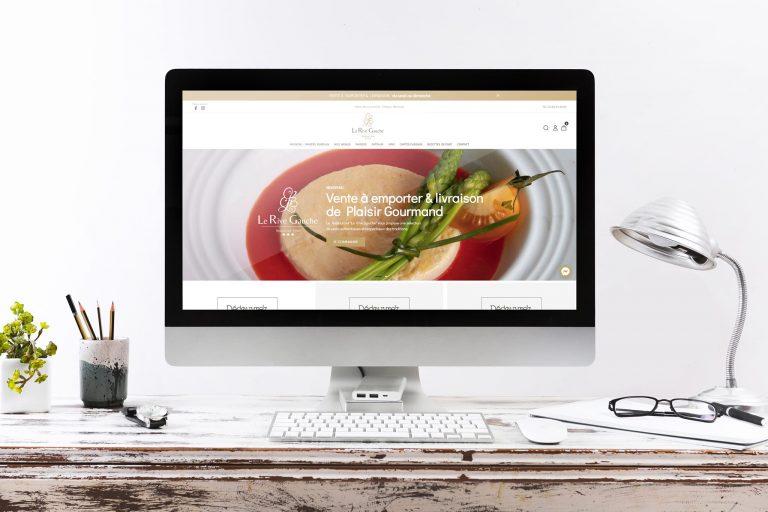 Création site internet vente à emporter Le Rive Gauche