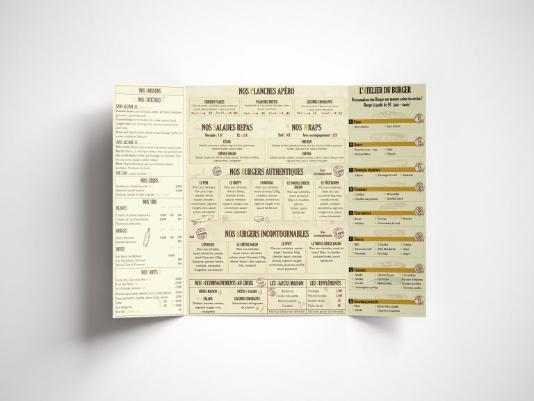 Logo et Carte menu Authentique Burger