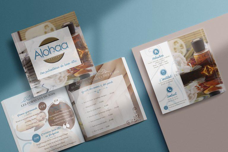 Brochure, Carte Cadeau et Site Internet Alohaa