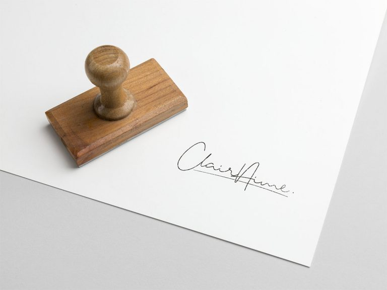 Création Logo Marque de Vêtement Clair'Aime
