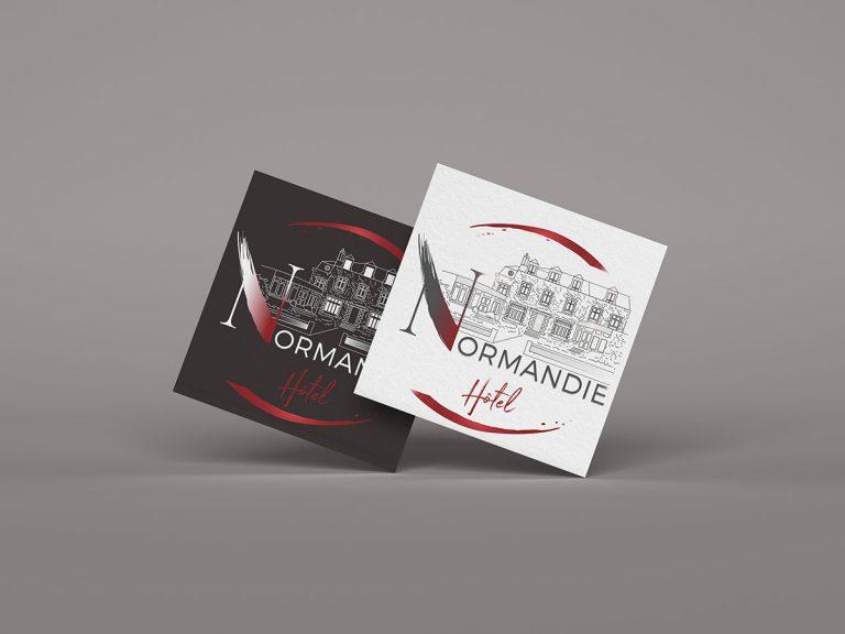 Refonte logo l'Hôtel Normandie