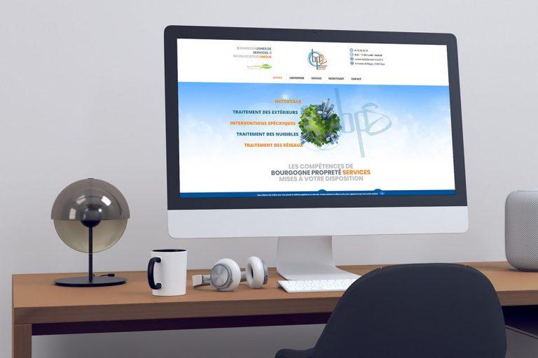 Création du site internet Bourgogne Propreté Services