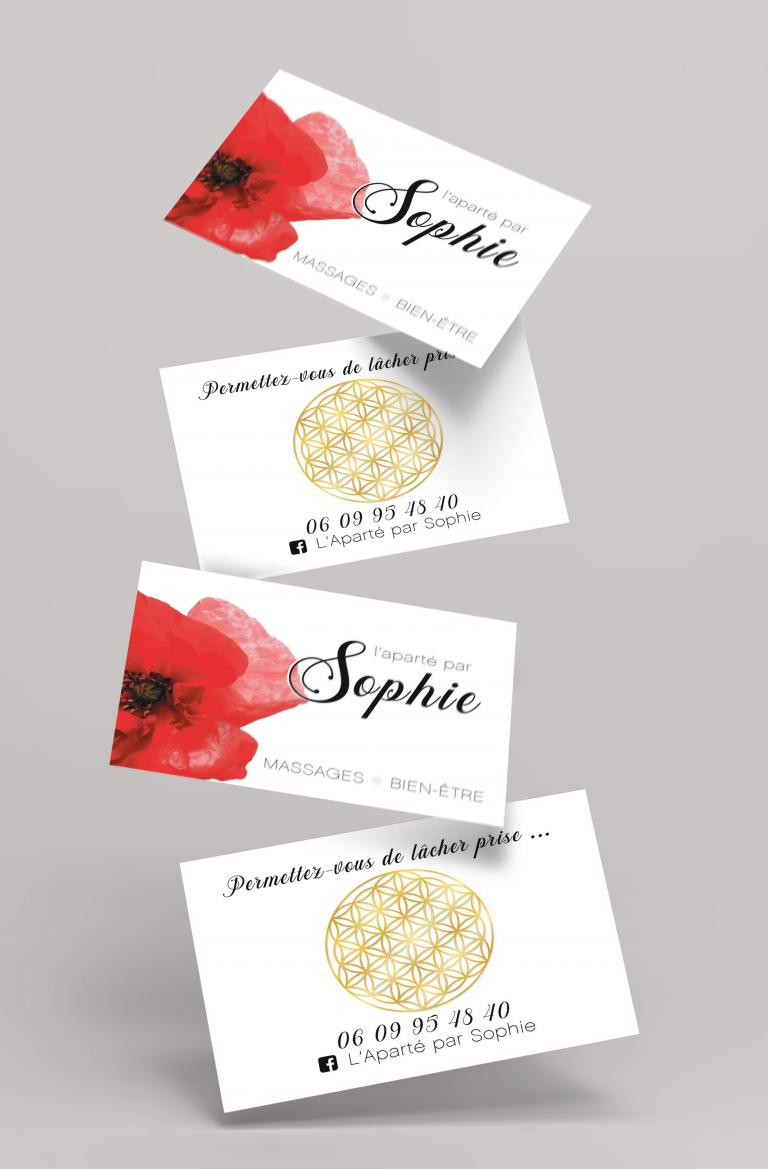 Cartes de visite – L'aparté par Sophie