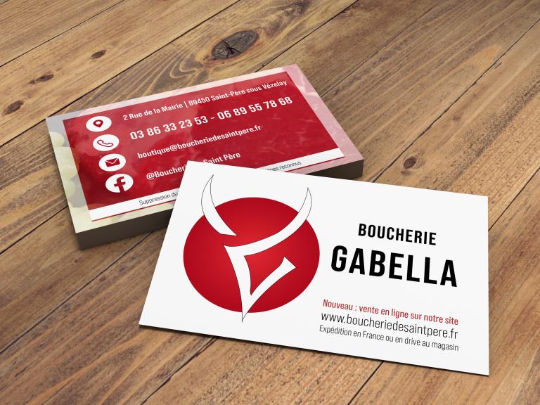 Cartes de visite Boucherie Gabella de Saint Père