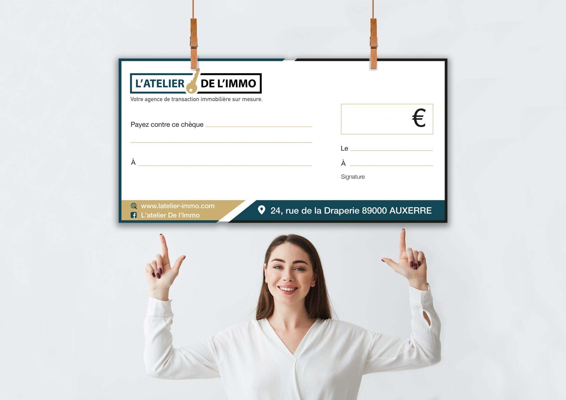 Chèque-Cadeau géant – Atelier de l'Immo
