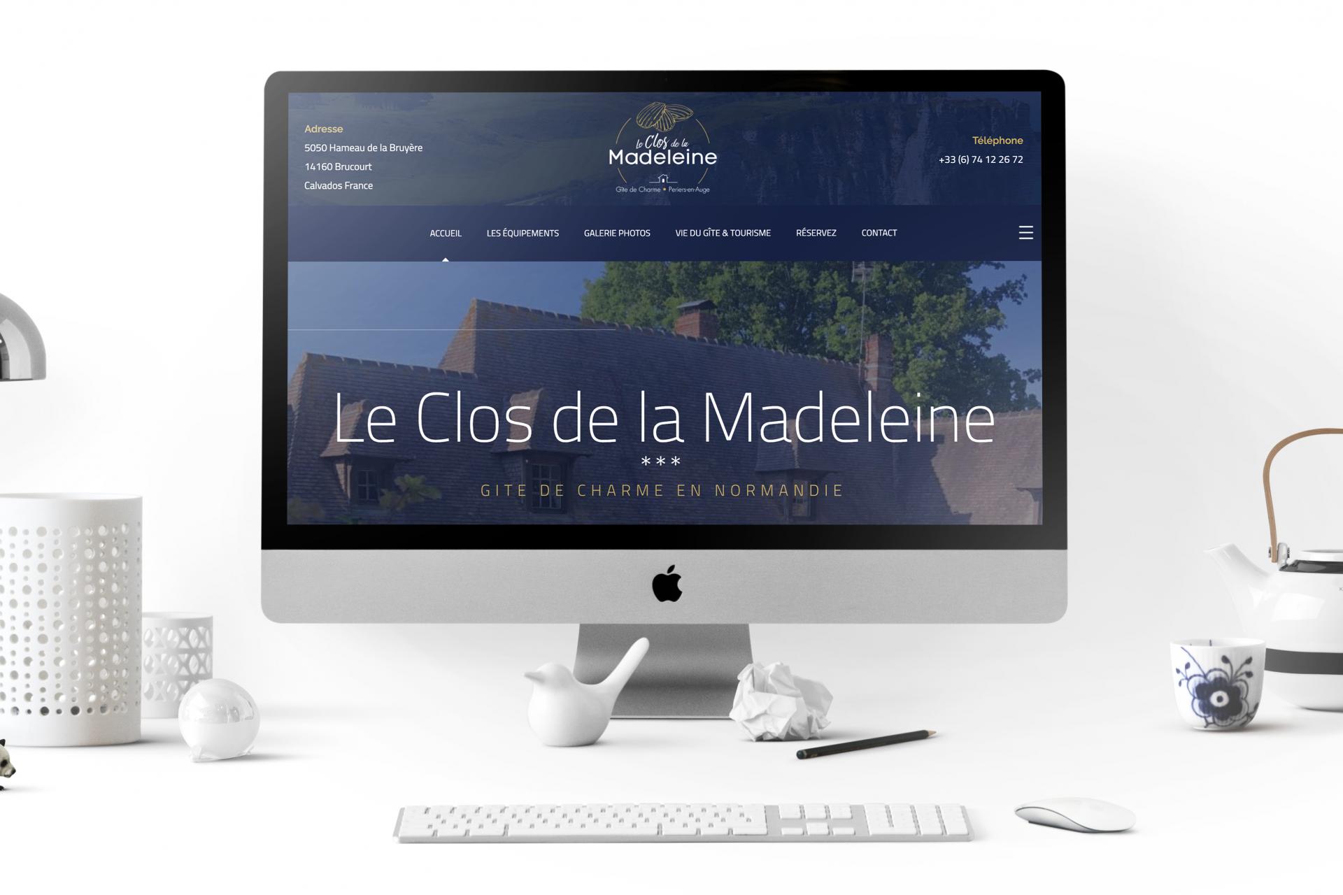 Création Site Internet Le Clos de la Madeleine