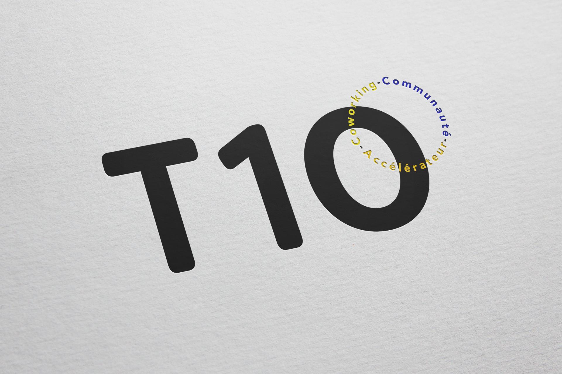 Création du logo T10 – Espace de Coworking