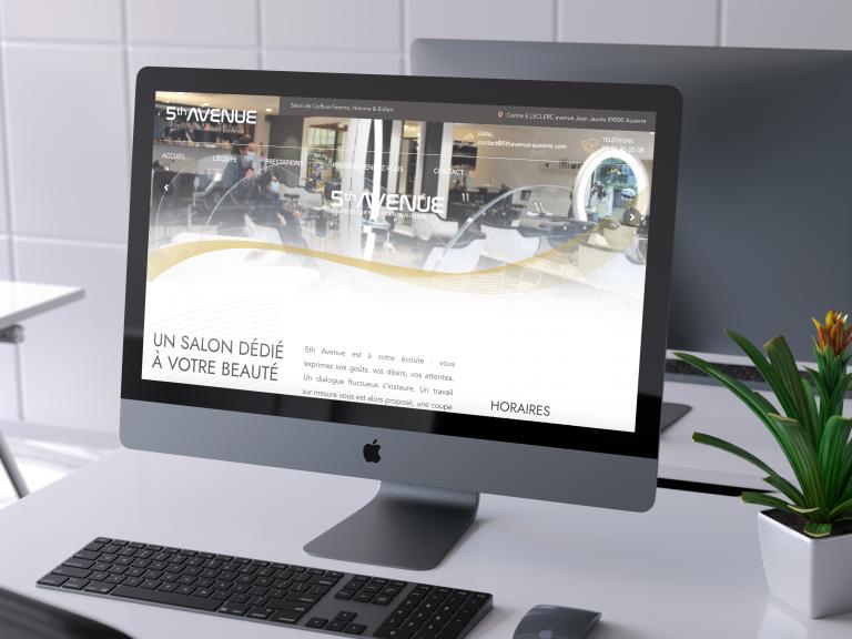 Création du site internet 5th Avenue Coiffure