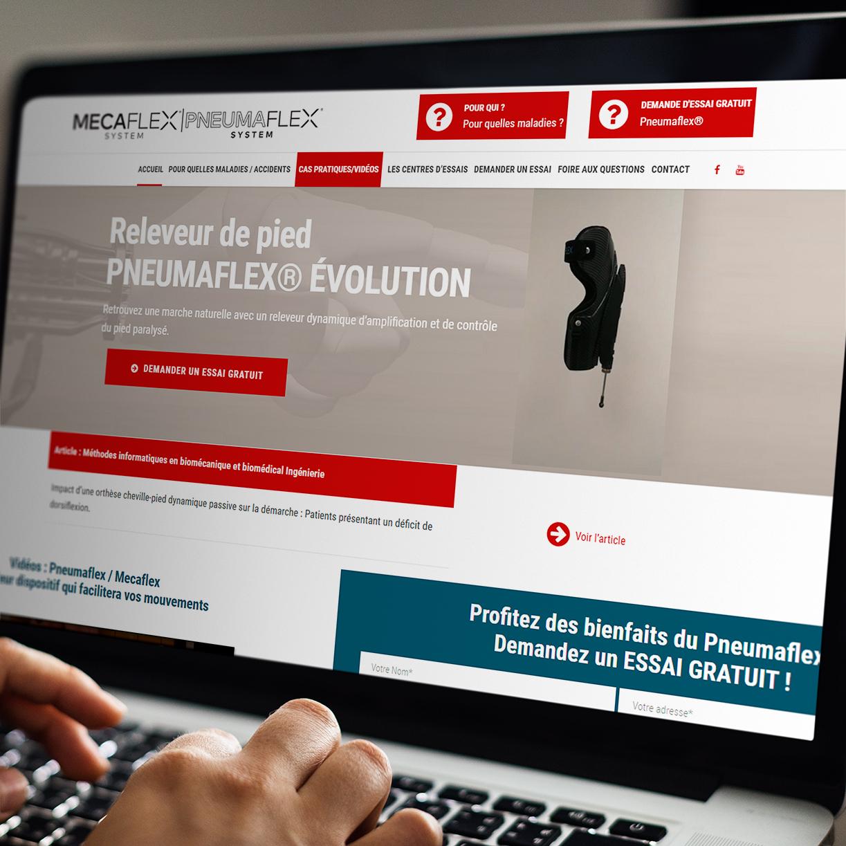 Création du site internet de Pneumaflex