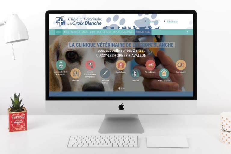 Création du site internet de la Clinique Vétérinaire La Croix Blanche