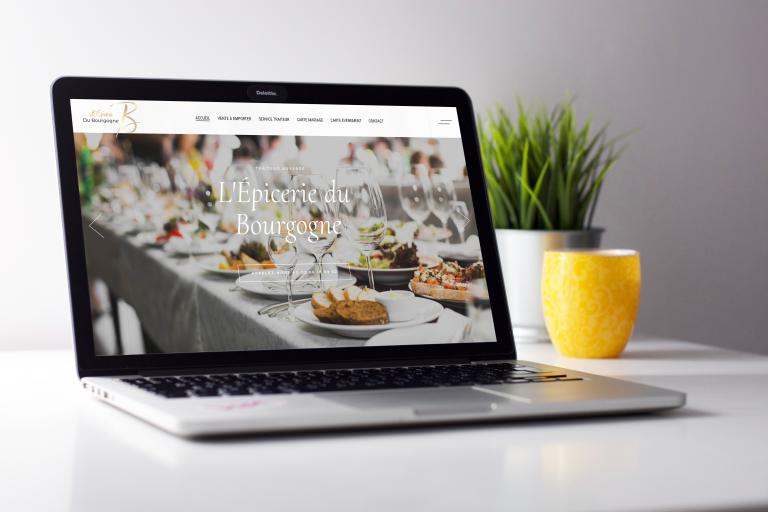 Création du site internet de l'Epicerie du Bourgogne