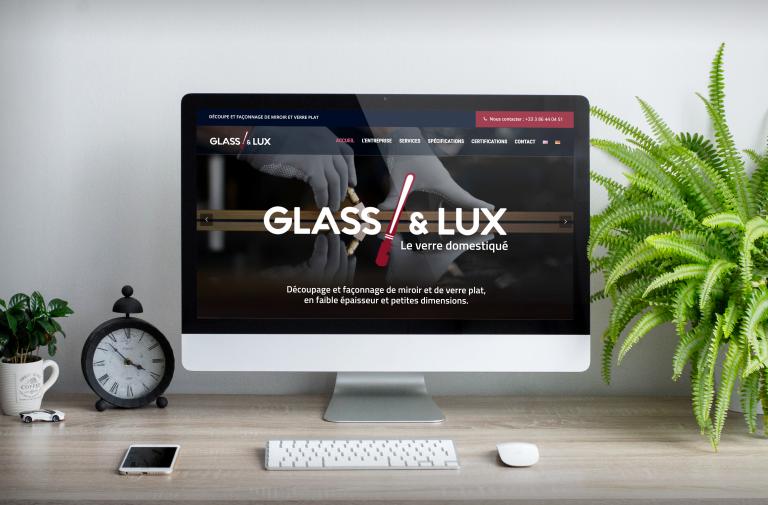 Création du site internet de Glass & Lux
