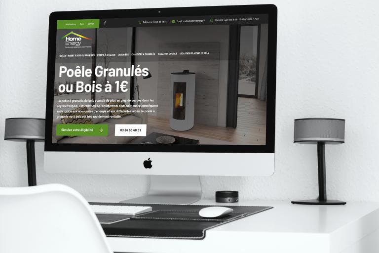 Création du site internet de Home Energy Sens