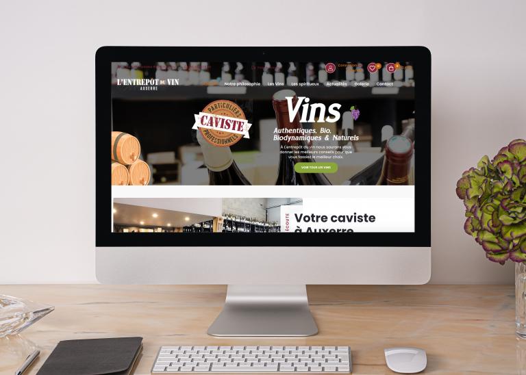 Création du site internet L'entrepôt du Vin