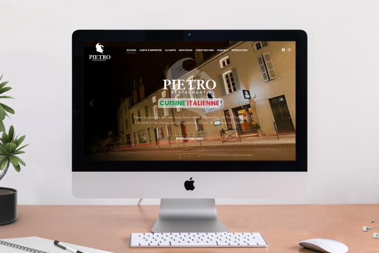Création du site internet Pietro Restaurant