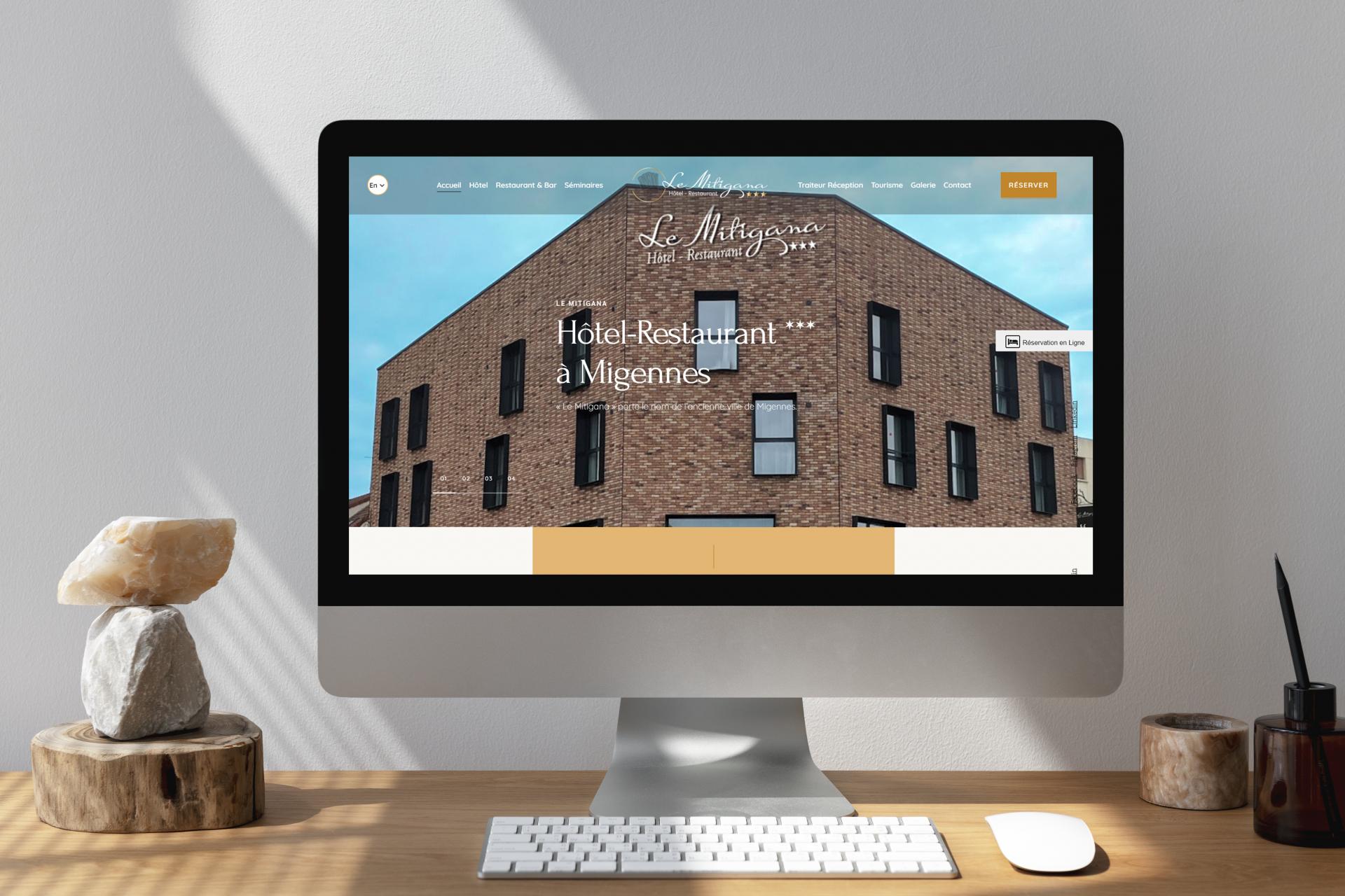 Création du site internet de l'Hôtel Restaurant – Le Mitigana