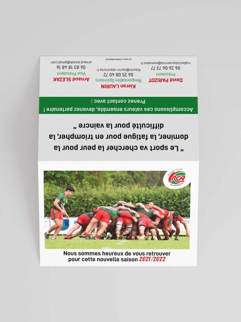 Création Calendrier des Matchs – Rugby Club Auxerrois
