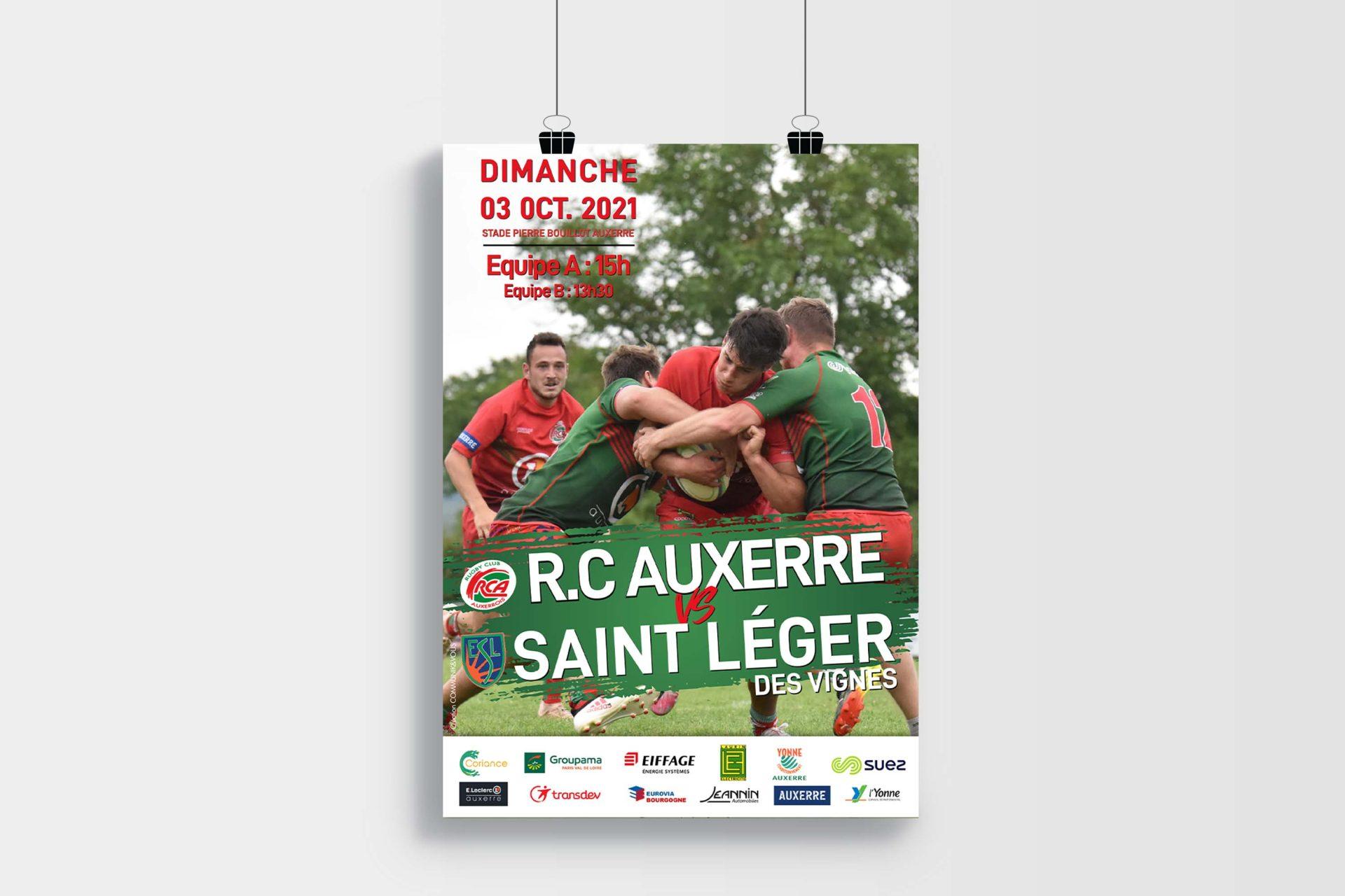 Création des Affiches de Matchs – Rugby Club Auxerrois